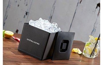 Andrew James Eiswürfelbehälter Quadratischer Eiskühler mit Deckel aus Kunststoff | Große 3 Liter-Kapazität | Perfekt für Champagner und Grillfeste Partys und Bars - 2