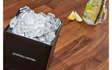 Andrew James Eiswürfelbehälter Quadratischer Eiskühler mit Deckel aus Kunststoff | Große 3 Liter-Kapazität | Perfekt für Champagner und Grillfeste Partys und Bars - 3