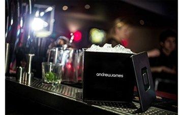 Andrew James Eiswürfelbehälter Quadratischer Eiskühler mit Deckel aus Kunststoff | Große 3 Liter-Kapazität | Perfekt für Champagner und Grillfeste Partys und Bars - 4