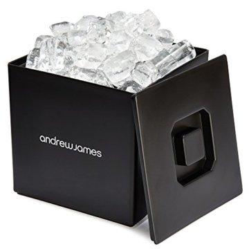 Andrew James Eiswürfelbehälter Quadratischer Eiskühler mit Deckel aus Kunststoff   Große 3 Liter-Kapazität   Perfekt für Champagner und Grillfeste Partys und Bars - 1