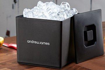 Andrew James Eiswürfelbehälter Quadratischer Eiskühler mit Deckel aus Kunststoff | Große 3 Liter-Kapazität | Perfekt für Champagner und Grillfeste Partys und Bars - 6