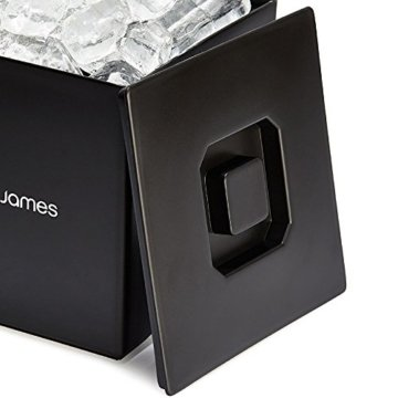 Andrew James Eiswürfelbehälter Quadratischer Eiskühler mit Deckel aus Kunststoff | Große 3 Liter-Kapazität | Perfekt für Champagner und Grillfeste Partys und Bars - 7