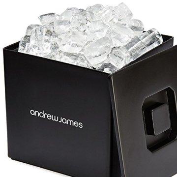 Andrew James Eiswürfelbehälter Quadratischer Eiskühler mit Deckel aus Kunststoff | Große 3 Liter-Kapazität | Perfekt für Champagner und Grillfeste Partys und Bars - 8