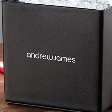 Andrew James Eiswürfelbehälter Quadratischer Eiskühler mit Deckel aus Kunststoff | Große 3 Liter-Kapazität | Perfekt für Champagner und Grillfeste Partys und Bars - 9