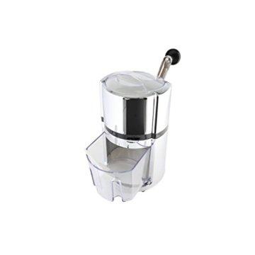axentia Ice-Crusher Rondo in Silber, rostfreier Edelstahl-Eiscrusher mit verchromtem Gehäuse, Eiszerkleinerer inklusive Eisbehälter und Schaufel, Maße: ca. 16 x 16 x 26 cm - 3