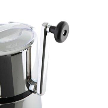 axentia Ice-Crusher Rondo in Silber, rostfreier Edelstahl-Eiscrusher mit verchromtem Gehäuse, Eiszerkleinerer inklusive Eisbehälter und Schaufel, Maße: ca. 16 x 16 x 26 cm - 5