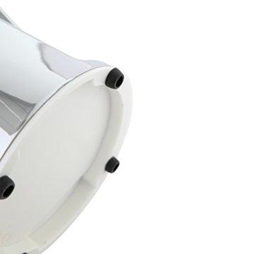 axentia Ice-Crusher Rondo in Silber, rostfreier Edelstahl-Eiscrusher mit verchromtem Gehäuse, Eiszerkleinerer inklusive Eisbehälter und Schaufel, Maße: ca. 16 x 16 x 26 cm - 6