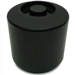 Eiswürfelbehälter 4 Liter Kühler Runde Eiskübel Eiseimer - Schwarz - 1