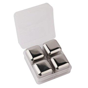 Fortune Candy (TM) Doppelwandig Edelstahl Eiseimer mit Zangen und Eiswürfel, Anti-Fingerabdruck, 3 Litre/0.8 Gal - 4