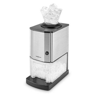 oneConcept Icebreaker • Ice Crusher • Eiscrusher • Eiszerkleinerer • 15 kg / h • 3,5 Liter (etwa 1,75 kg) Eisbehälter • aufsetzbarer Einfülltrichter • Sicherheitsschalter • Saugnapffüße • kompakt • einfach zu reinigen • Edelstahlgehäuse • silber - 6