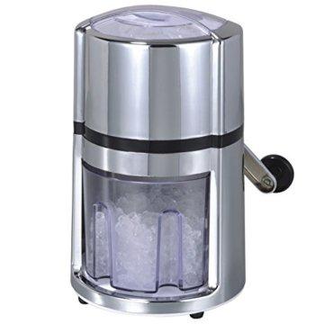 """Oxid7 Ice Crusher, Eiscrusher, Eiszerkleinerer, Eis Zerkleinerer """"Rondo"""" - Kunststoff, silber - 1"""