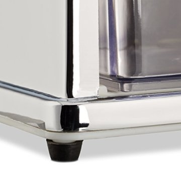 Relaxdays Eiscrusher Maschine mit Eisschaufel, manueller Ice Crusher, Metall Eiszerkleinerer, 27 x 15,5 x 13 cm, silber - 4