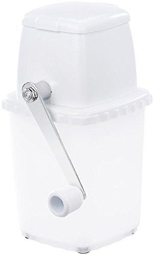 Rosenstein & Söhne Ice Crusher: Stromloser Eiscrusher mit Edelstahl-Mahlwerk und Handkurbel (Eiscrasher) - 1