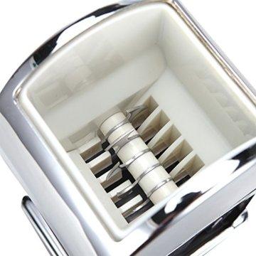 Todeco - Eiscrusher, Eis Zerkleinerer - Material: Verchromtes Metall - Zubehör: Messlöffel - 5