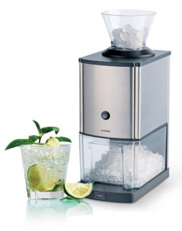 Trebs Edelstahl Eiscrusher ideal für Softdrinks, Cocktails oder kalte Nachtischzubereitung (1 kg zerkleinertes Eis pro Minute, Kapazität 3 Liter, 80 Watt) - 4
