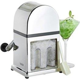 VonShef Handbetriebener Eiscrusher Icecrusher / Eiszerkleinerer in stilvollem Hochglanz - Inklusiv Auffangschale und KOSTENLOSER Schaufel - 1