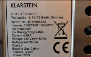 Klarstein Manhattan Eiswürfelmaschinen Test label