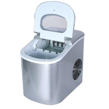 Jago Eiswürfelmaschine inkl. Eiswürfelschaufel (2 verschiedene Eiswürfelgrößen, 12 kg pro Tag), Eiswürfelbereiter mit LED Funktionsanzeige (220-240V) - 3