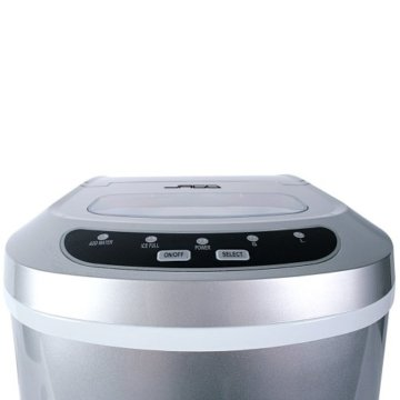 Jago Eiswürfelmaschine inkl. Eiswürfelschaufel (2 verschiedene Eiswürfelgrößen, 12 kg pro Tag), Eiswürfelbereiter mit LED Funktionsanzeige (220-240V) - 4