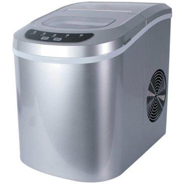 Jago Eiswürfelmaschine inkl. Eiswürfelschaufel (2 verschiedene Eiswürfelgrößen, 12 kg pro Tag), Eiswürfelbereiter mit LED Funktionsanzeige (220-240V) - 1