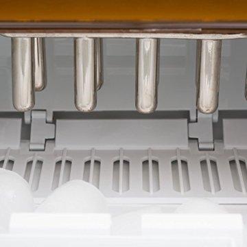 Klarstein Icemeister Eiswürfelmaschine Eiswürfelbereiter Ice Maker 12kg/24h 3 Würfelgrößen Selbstreinigungsprogramm LCD-Display LED-Beleuchtung Timer Edelstahl weiß - 5